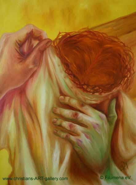 wer reicht jesus das schweisstuch